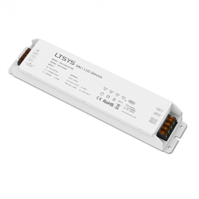 Dali Dimmable Driver 100-240V input,DC24V 150W CV Constant Voltage Power Driver