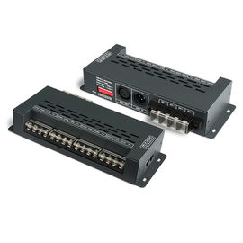 China Black 12 Channel Dmx Decoder 720W High Pwm Frequency Output , 0~100% Dimming Range supplier