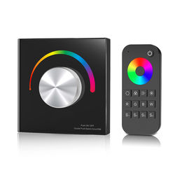 China Waterproof Rgb Led Controller , Rotary Knob Rgb Strip Light Controller With Remote distributor