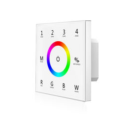 China Brightness Dimming RGBW LED Controller Touchable Panel 2.4G RF&DMX512 distributor