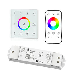 China ABS Rgbw Led Strip Controller , Rgb Touch Panel Controller No Flickering distributor