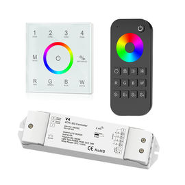 China 4 Zone RGBW LED Controller , Led Dimmer Touch Panel With Remote Control distributor