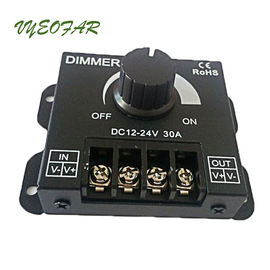 China 30A LED Dimmer 12V 24V 720W Big power For Led Single Strip Switch Knob controller distributor